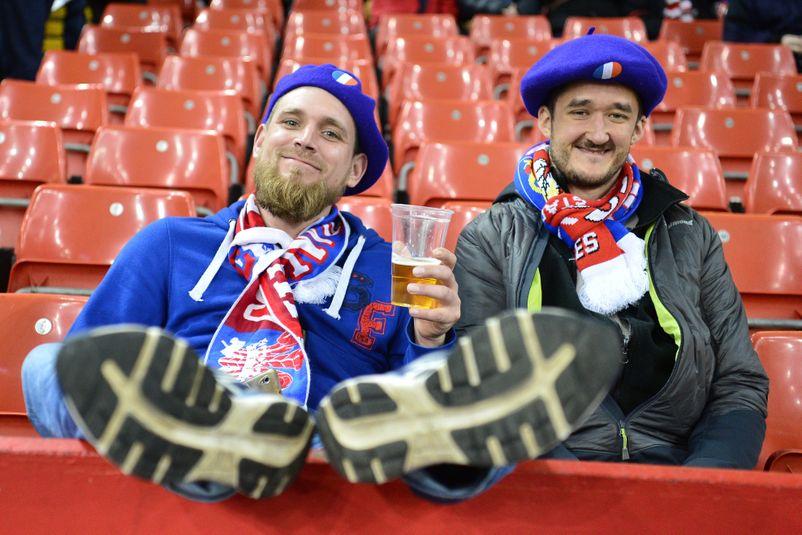 Venus en nombre pour soutenir le XV de France, les supporters français ont apprécié le spectacle.