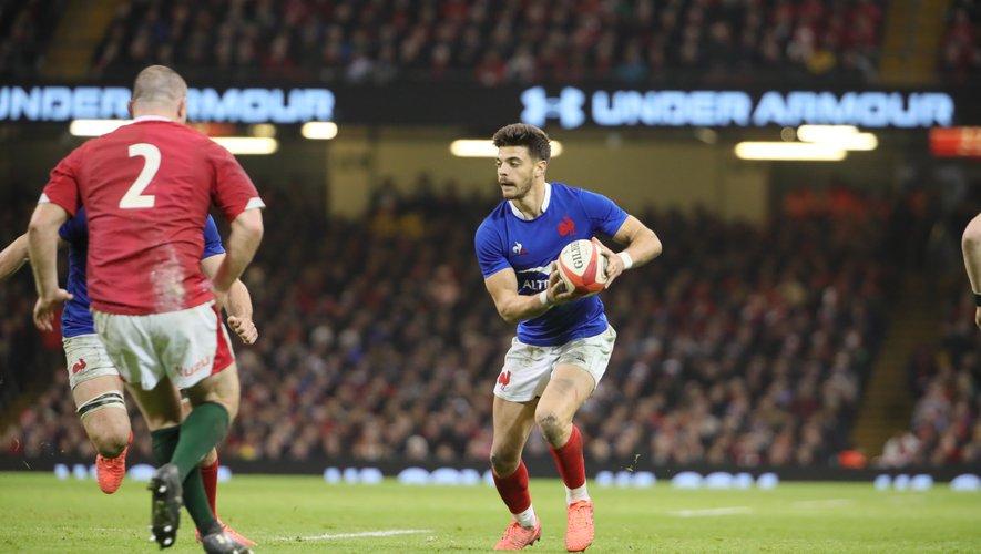 Romain Ntamack (France) a régalé durant toute la rencontre de son talent contre le pays de Galles