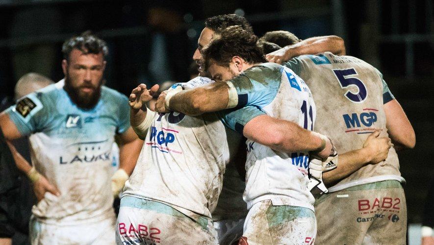 Les Bayonnais surprennent les champions de France et s'offrent un succès qui comptera dans la course au maintien. Photo Icon Sport.