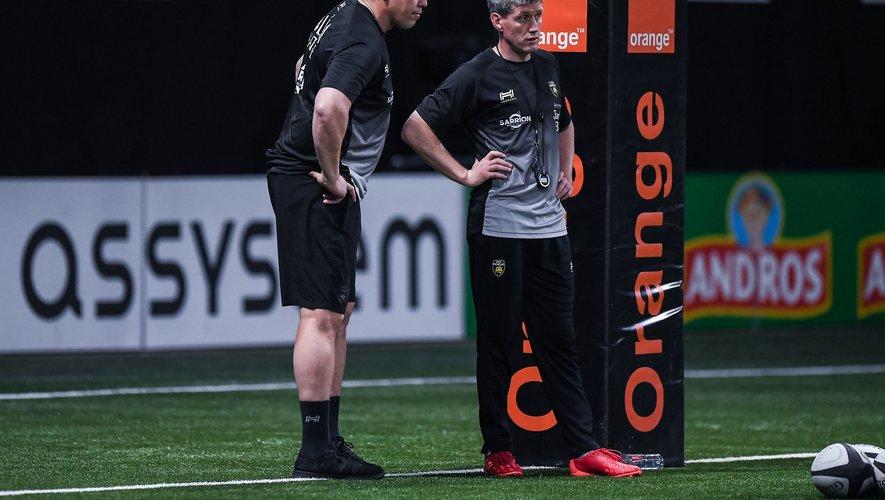 Ronan O'Gara et Jono Gibbes à La Défense Arena