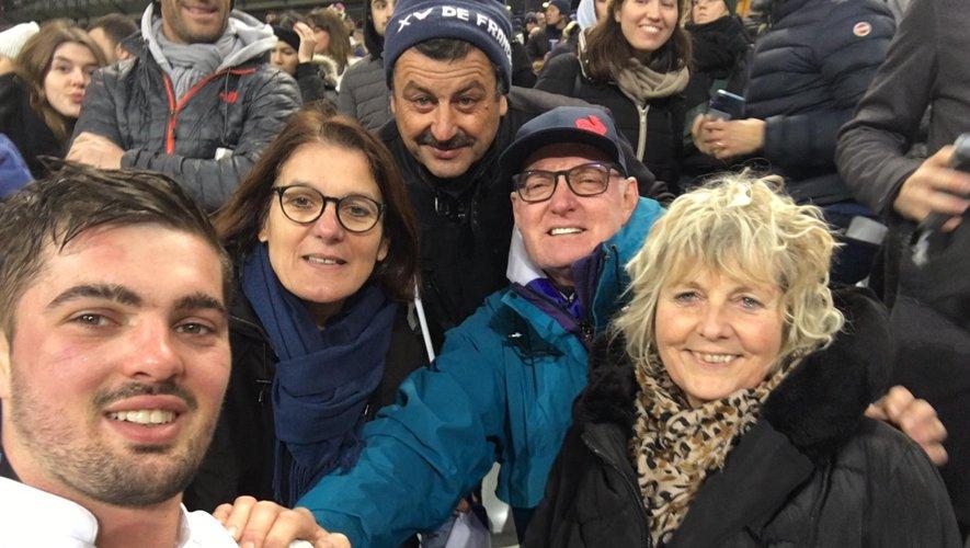 Grégory Alldritt en famille, après le match contre l'Italie.