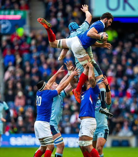 Tournoi des 6 Nations 2020 - Charles Ollivon (France) contre l'Écosse