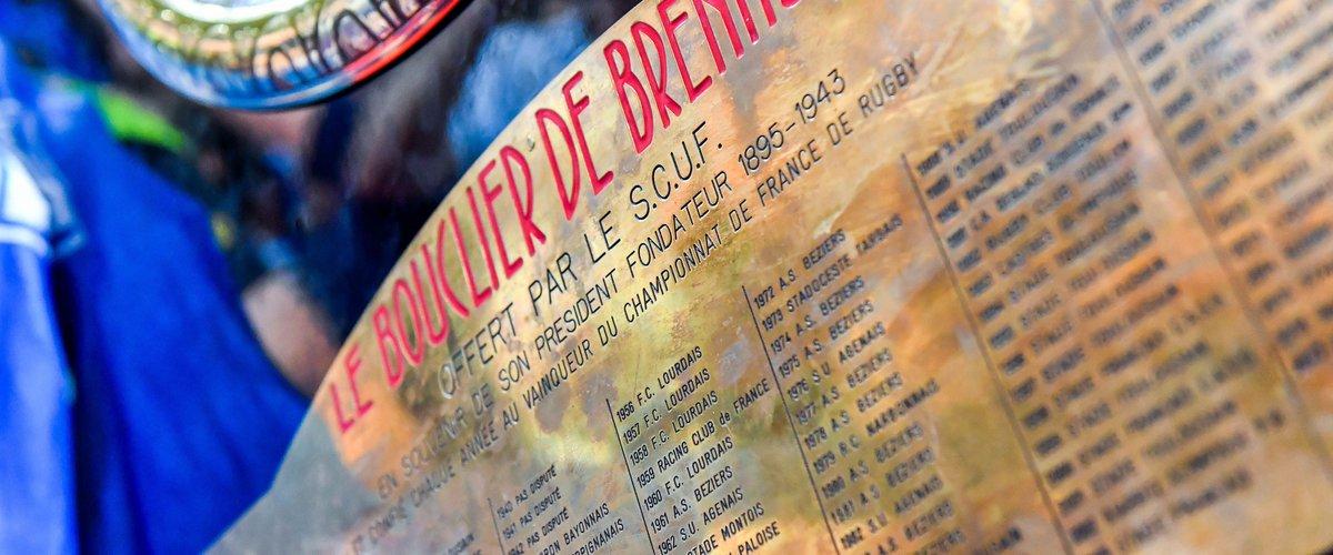 Le Bouclier de Brennus lors de la finale de Top 14 entre Montpellier et Castres