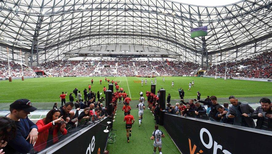 Stade Vélodrome lors du match Toulon - Montpellier en avril 2018