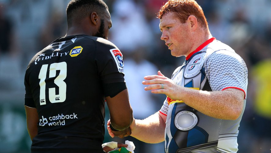 Super Rugby - Lukhanyo Am (Sharks) et Steven Kitshoff (Stormers)
