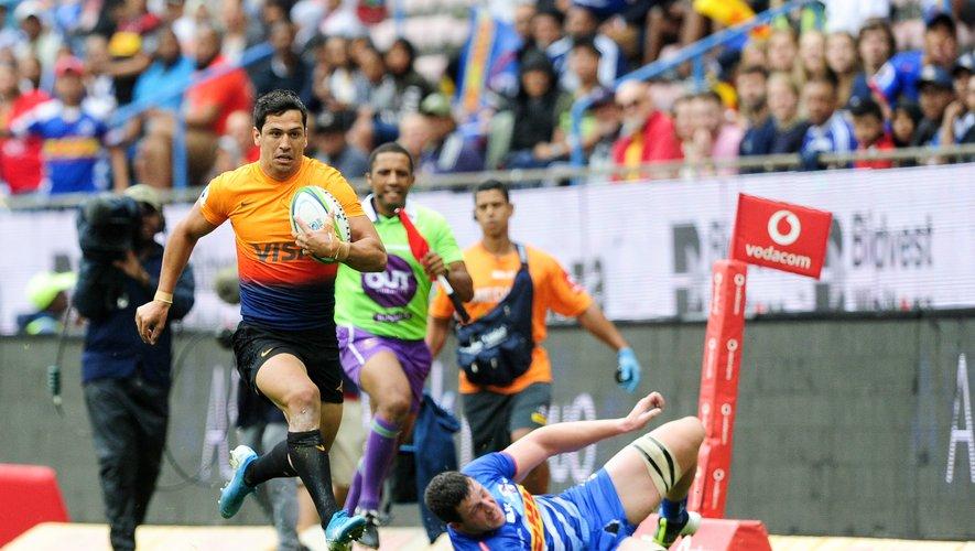 Le cas des Jaguares de Matias Moroni, ici face aux Stormers fin février, pose quelques soucis de logistique car ils devront observer une période de quarantaine, quel que soit le scénario choisi pour la poursuite du Super Rugby. Photo Icon Sport