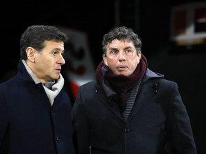 Laurent Marti (président de l'Union Bordeaux-Bègles) et Didier Lacroix (président du Stade toulousain)