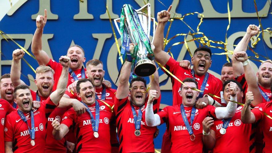 Les Saracens sur le toit de l'Europe la saison passée après sa victoire contre le Leinster en finale de Champions Cup