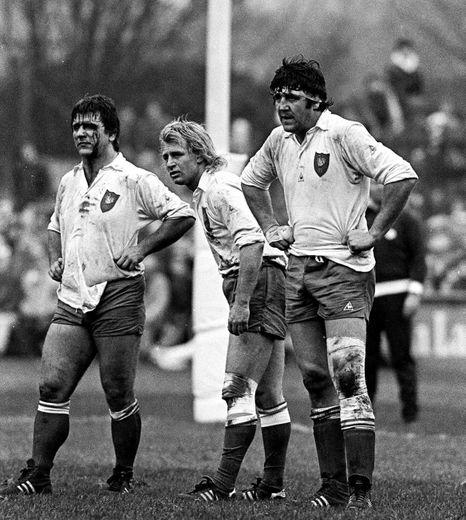 Robert Paparemborde / Jean Pierre Rives / Jean Francois Imbernon - 19.02.1983 - Irlande / France - Tournoi des Cinq Nations