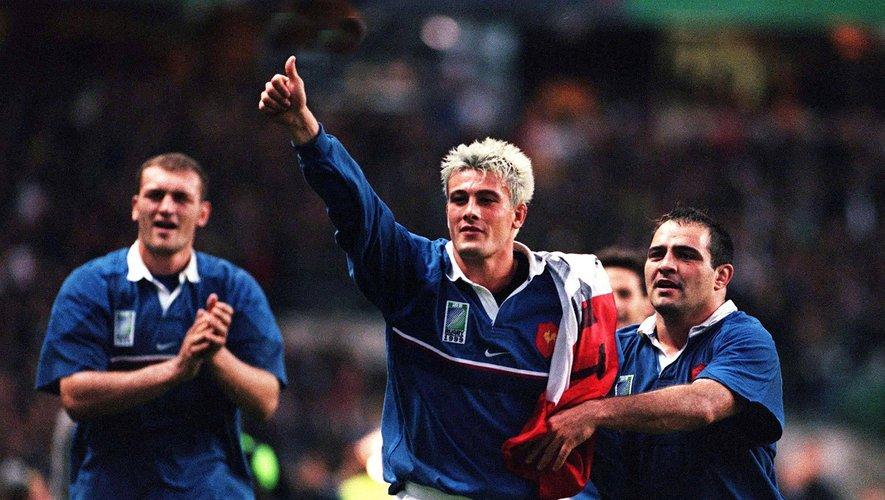La joie des français lors de France / Nouvelle Zelande en 1/2 Finale Coupe du Monde 1999.
