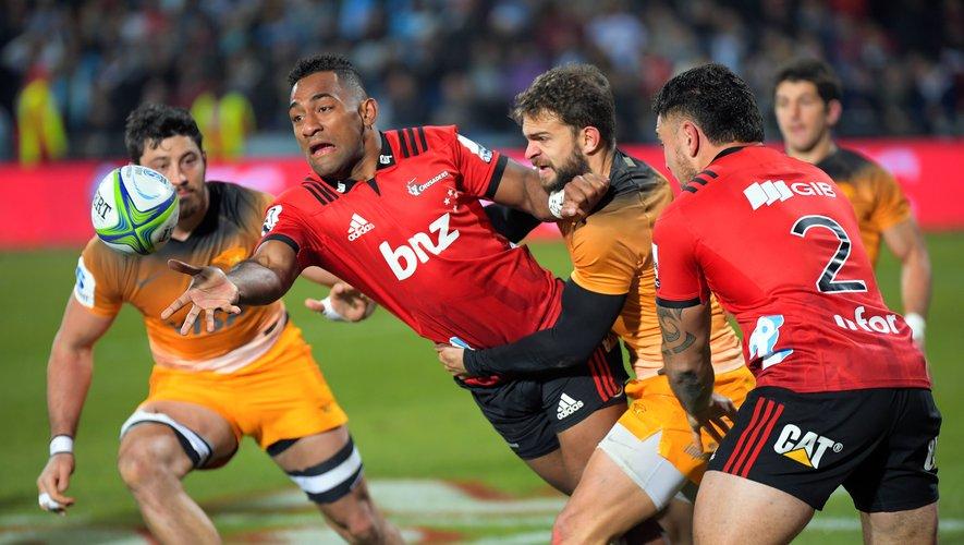 Sevu Reece (Crusaders) durant la finale du Super Rugby 2019