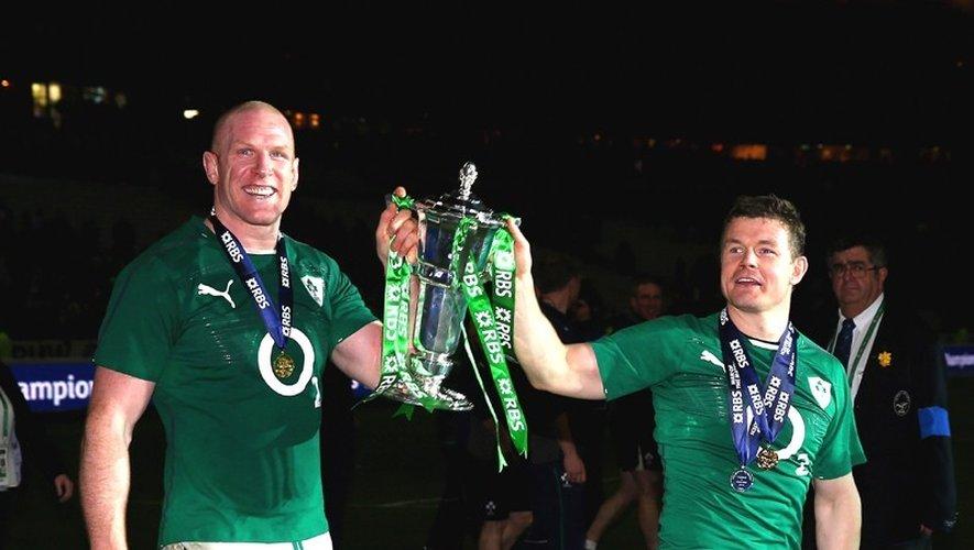 Brian O'Driscoll et Paul O'Connell pendant le Tournoi de 2014