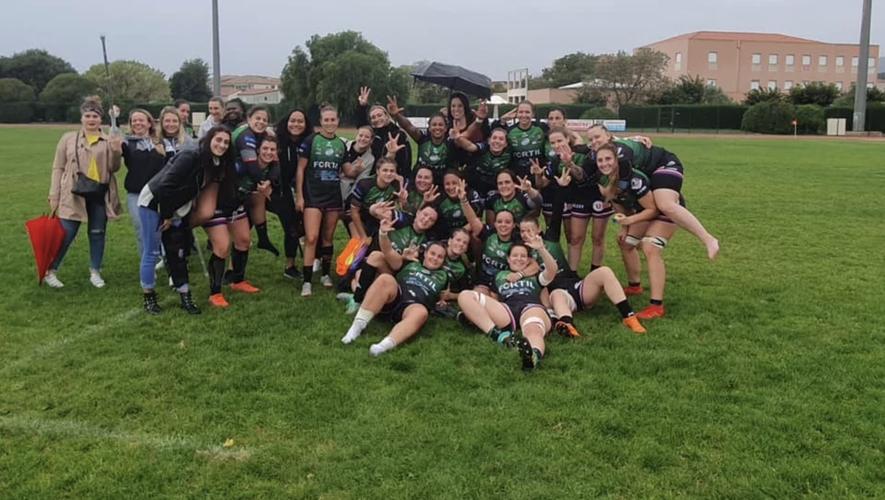 L'équipe de rugby féminine de La Valette