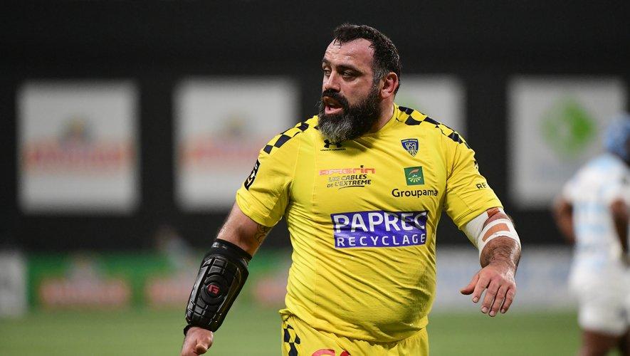 Le pilier de Clermont, Davit Zirakashvili, n'imaginait pas une telle fin de carrière. L'international géorgien garde tout de même un petit espoir... Photo Icon Sport