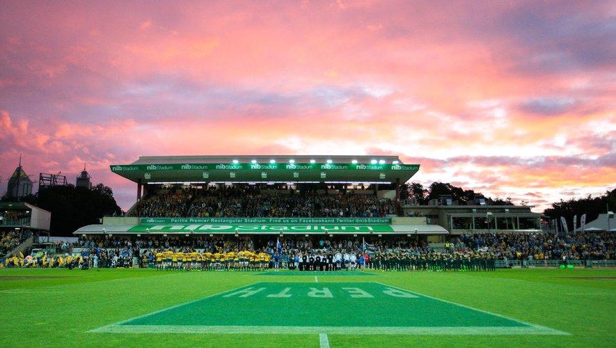 Si l'option Perth se confirme, le NIB Stadium accueillera des rencontres du Rugby Championship 2020. Photo Icon Sport