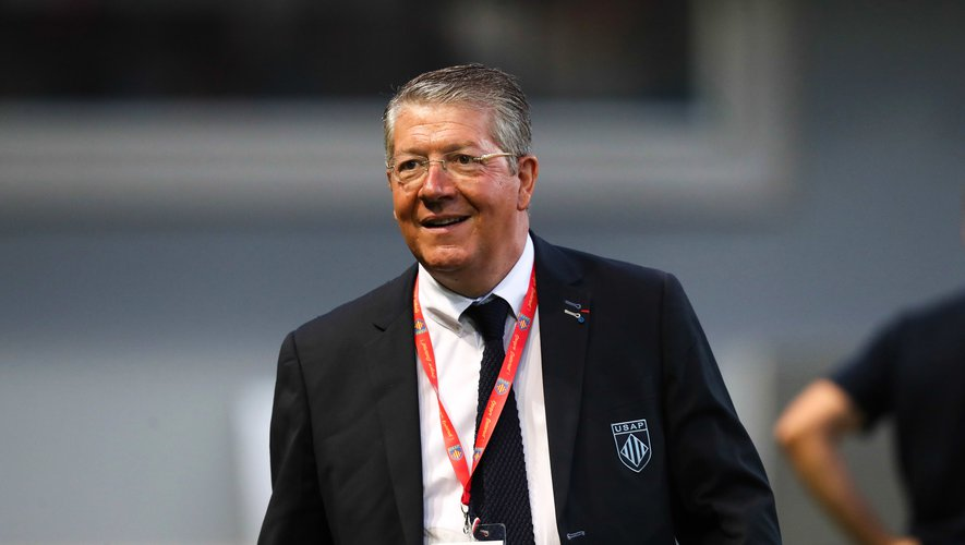 President Francois Riviere of Perpignan during the Pro D2 match between Perpignan and Beziers on August 22, 2019 in Perpignan, France. (Photo by Manuel Blondeau/Icon Sport)