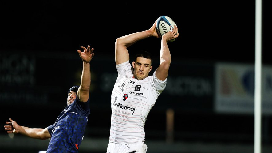 Thibault LASSALLE of Oyonnax during the Pro D2 match between Colomiers Rugby and US Oyonnax on February 28, 2020 in Colomiers, France. (Photo by Manuel Blondeau/Icon Sport) - Thibault LASSALLE - Stade Michel Bendichou - Colomiers (France)