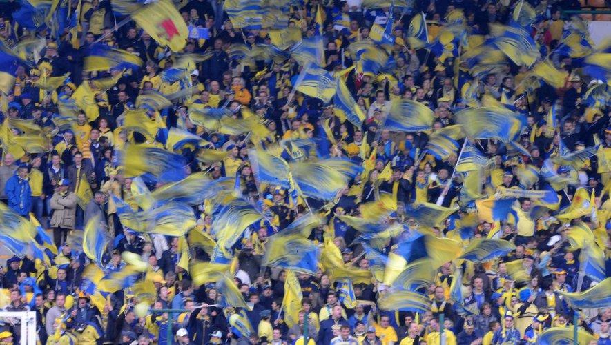Les supporters de Clermont lors de la demi-finale contre Toulon en 2010