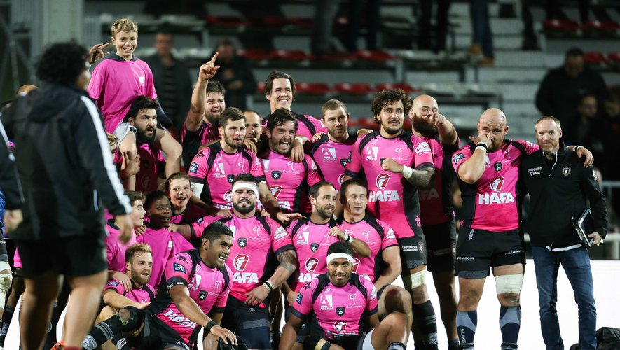 Players of Rouen Normandie Rugby during the Pro D2 match between Rouen and Carcassonne on October 18th, 2019. Photo: Maxime Le Pihif / Icon Sport - ---