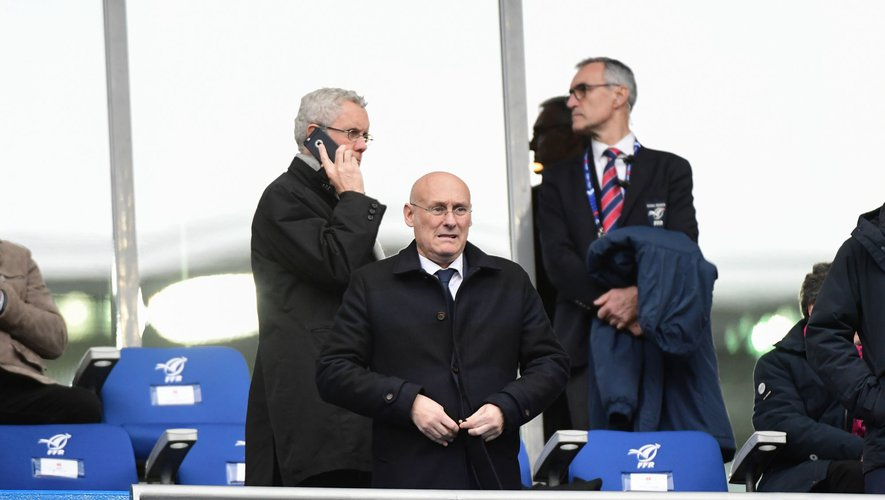 President of the French Rugby Federation (FFR) Bernard LAPORTE during the Six Nations match Tournament between France and England at Stade de France on February 2, 2020 in Paris, France. (Photo by Dave Winter/Icon Sport) - Bernard LAPORTE - Stade de France - Paris (France)