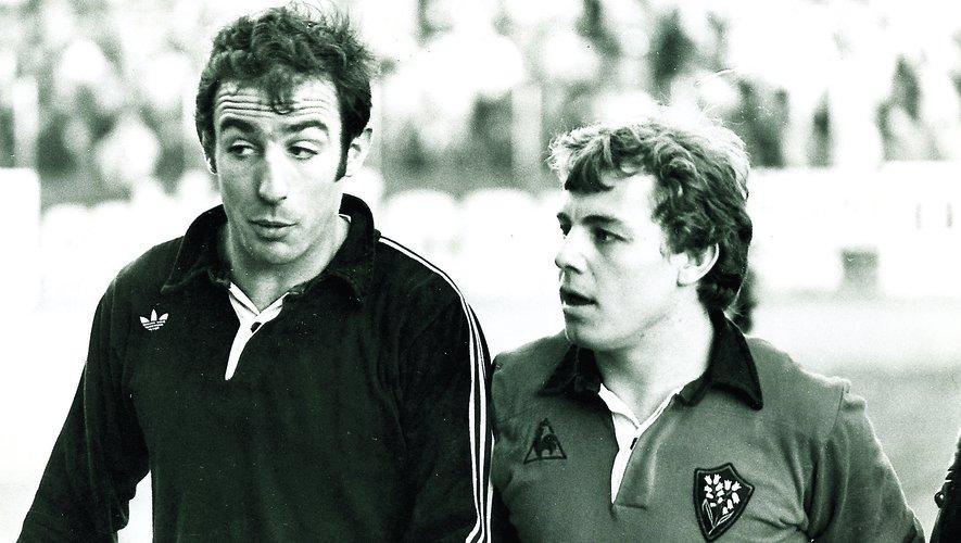 Partenaires en équipe de France, Jean-Michel Aguirre (à gauche), le Bagnérais et Jérôme Gallion (à droite), le Toulonnais étaient adversaires en club malgré la profonde amitié qui s'était créée entre eux. Photos archives Midi Olympique