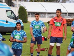 Dan Carter sous les couleurs de nouvelle équipe, les Blues d'Auckland