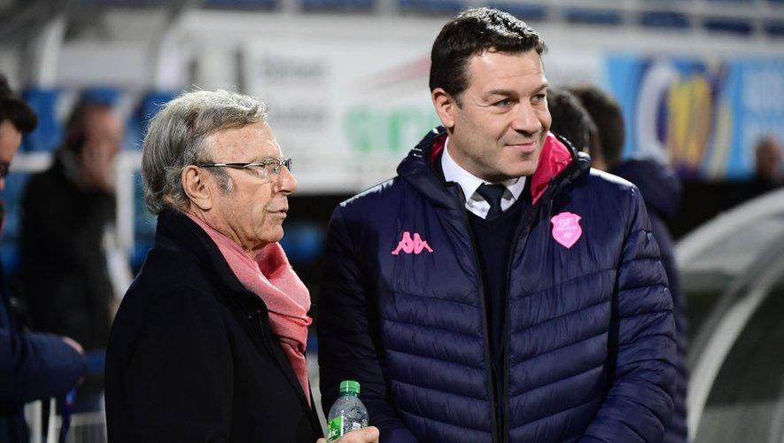 Thomas Lombard, le directeur général et Hans-Peter Wild, le propriétaire d'un Stade français qui a fini bon dernier du Top 14.