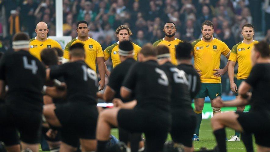 Australie face au Haka -  31.10.2015 - Australie / Nouvelle Zelande - Finale Coupe du Monde de rugby 2015