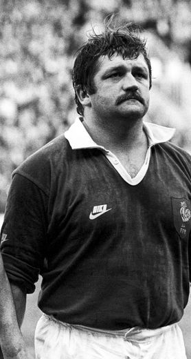 Jean Pierre Garuet, French International rugby prop forward during the 1985 Five Nations Championship match between England and France on 02th February 1985 Photo : PA Images / Icon Sport
