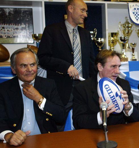 Bernard Magrez, Bernard Laporte et Gérard Depardieu.