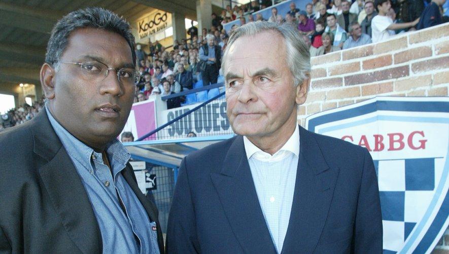 Kevin Venkiah, président ambitieux mais trop seul, aux côtés de Bernard Magrez.