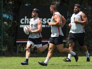 Zack Holmes, Guillaume Marchand et Paulo Tafili (de gauche à droite) ont repris progressivement l'entraînement collectif.
