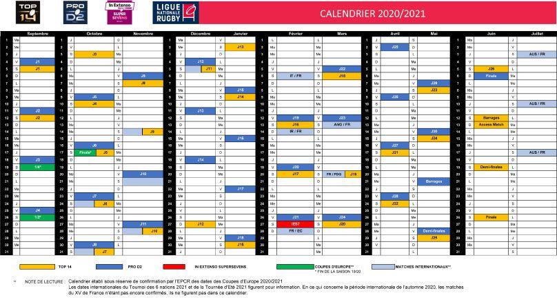 Tournois Des 6 Nations 2021 Calendrier Calendriers : des doublons à la folie   midi olympique.fr