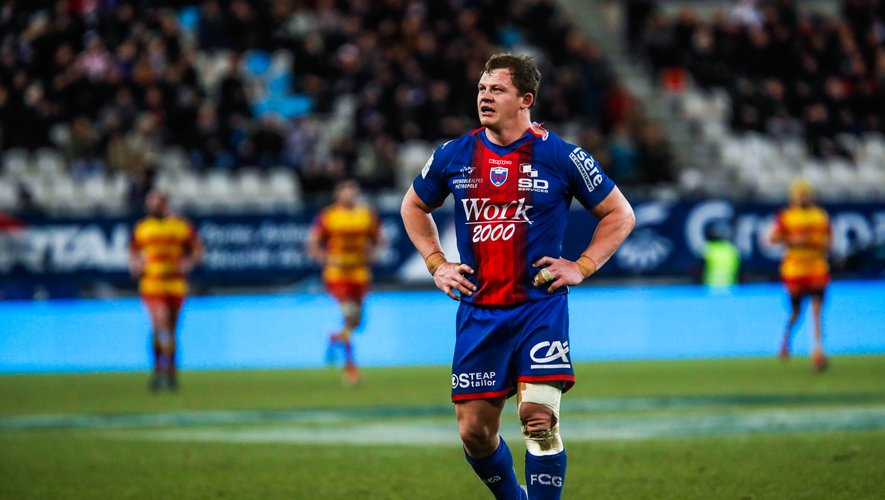Deon FOURIE of Grenoble during the Pro D2 match between Grenoble and Perpignan at Stade des Alpes on February 13, 2020 in Grenoble, France. (Photo by Romain Biard/Icon Sport) - Deon FOURIE - Stade des Alpes - Grenoble (France)