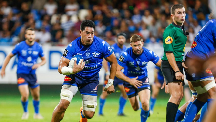 Alex TULOU of Castres during the Top 14 match between Castres and Agen on September 28, 2019 in Castres, France. (Photo by Laurent Frezouls/Icon Sport) - Alex TULOU - Stade Pierre Fabre - Castres (France)