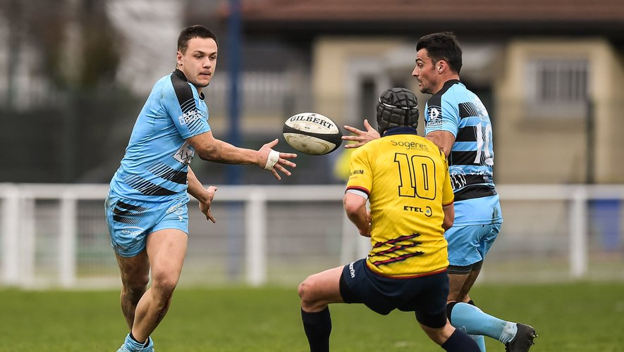 Arthur SEIGNEURET of Massy and Jean Baptiste CLAVERIE of Massy during the French Federal 1 Rugby match between Drancy and Massy at Stade Guy Moquet on February 22, 2020 in Drancy, France. (Photo by Baptiste Fernandez/Icon Sport) - Jean-Baptiste CLAVERIE - Arthur SEIGNEURET - Drancy (France)