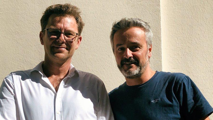 Les cofondateurs de Bubble-it, Antoine Gillain et Jean-Michel Ginèbre, ont lancé leur start-up visant à créer une eau pétillante de façon écologique. Cette marque pourrait bientôt apparaître dans le monde du rugby. Photo DR