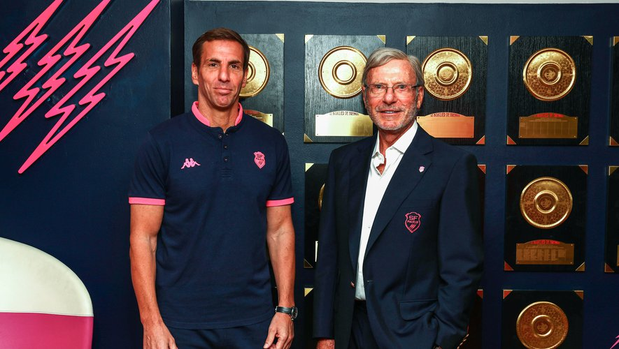 Head coach Gonzalo QUESADA and Owner and President, Dr Hans-Peter WILD during the Press Conference Stade Francais at Stade Jean Bouin on June 30, 2020 in Paris, France. (Photo by Elliott Chouraqui/Icon Sport) - Hans PETER WILD - Gonzalo QUESADA - Stade Jean Bouin - Paris (France)