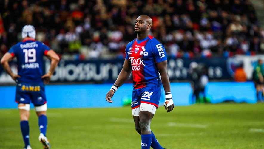 Raymond RHULE of Grenoble during the Pro D2 match between Grenoble and Perpignan at Stade des Alpes on February 13, 2020 in Grenoble, France. (Photo by Romain Biard/Icon Sport) - Raymond RHULE - Stade des Alpes - Grenoble (France)