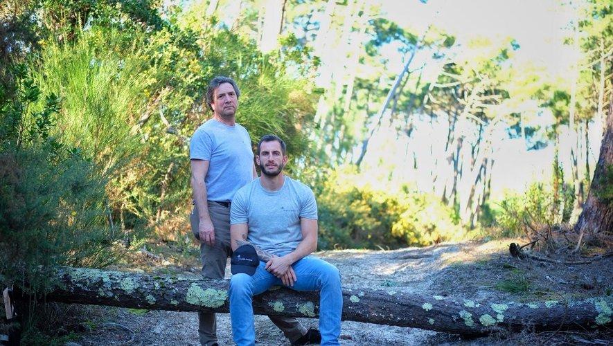 Jean-François Pottier et Julien Dumora, associés dans la production de bières artisanales biologiques.Photos DR