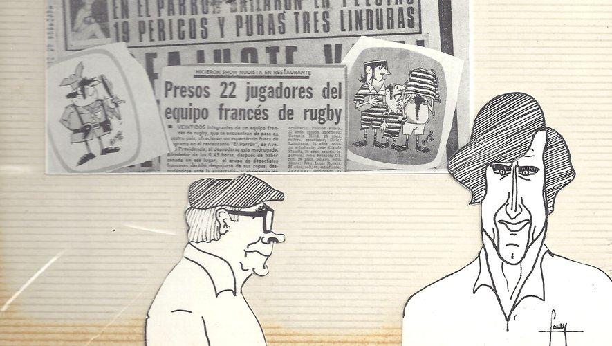 articles de presse a Santiago ( tournée 1972 Bresil, chili, perou, Bolivie, Argentine