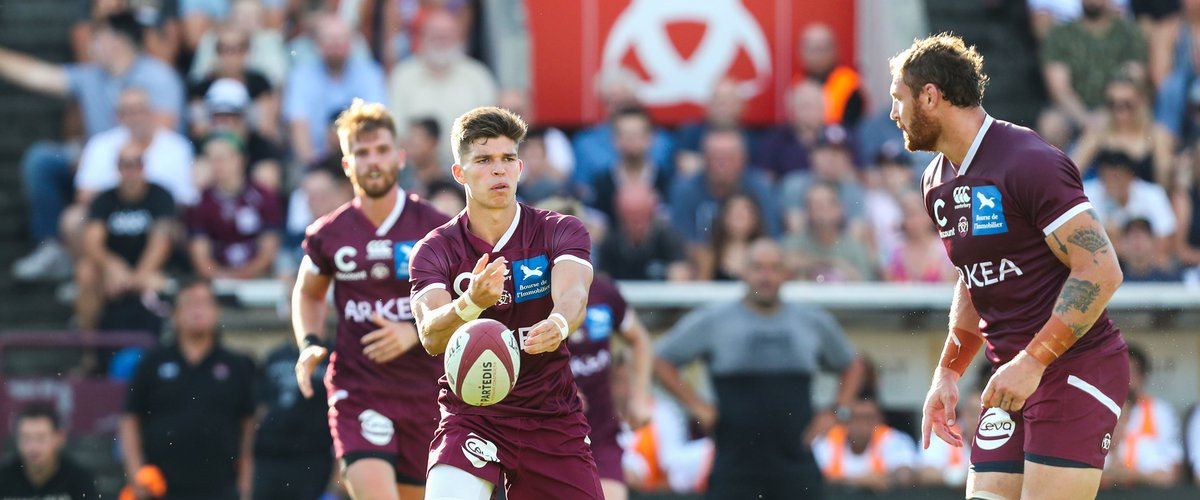 Mathieu Jalibert of UBB during the test match between Bordeaux Begles and Toulon at Stade Chaban-Delmas on August 3, 2019 in Bordeaux, France. (Photo by Manuel Blondeau/Icon Sport)