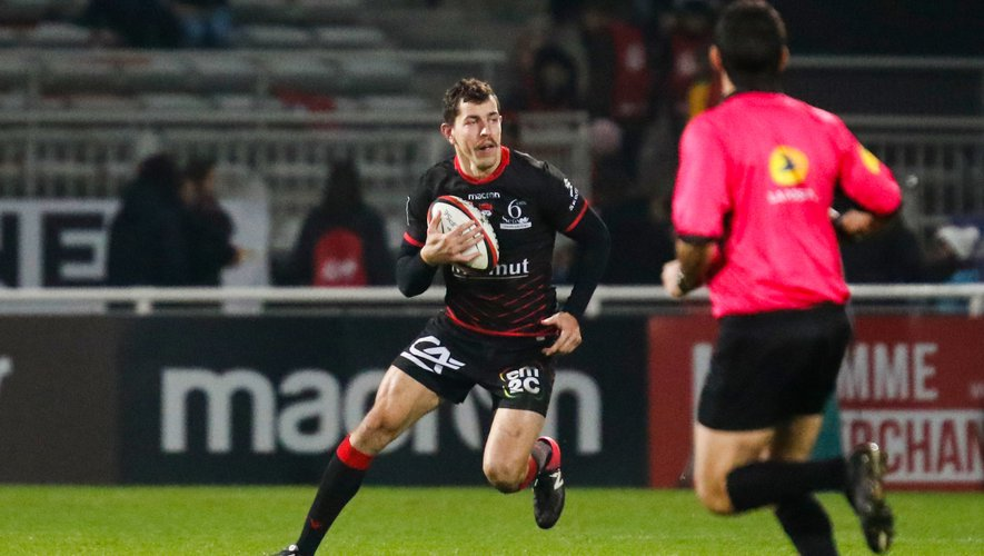 Jean Marcellin Butin of Lyon during the Top 14 match between Lyon OU and Section Paloise on December 1, 2018 in Lyon, France. (Photo by Romain Biard/Icon Sport)