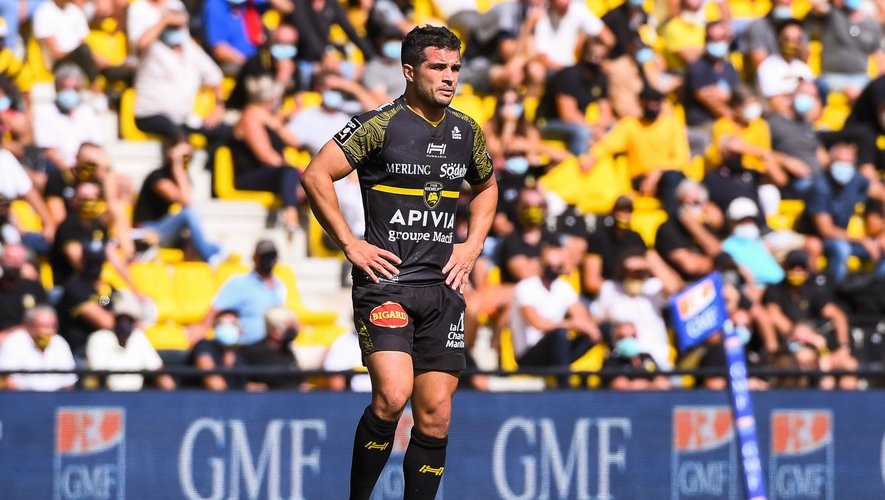 Brice DULIN of La Rochelle during the French Top 14 Rugby match between La Rochelle and Toulon, at Marcel Deflandre Stadium, La Rochelle, France on 5th September 2020. (Photo by Baptiste Fernandez/Icon Sport) - Brice DULIN - Stade Marcel-Deflandre - La Rochelle (France)