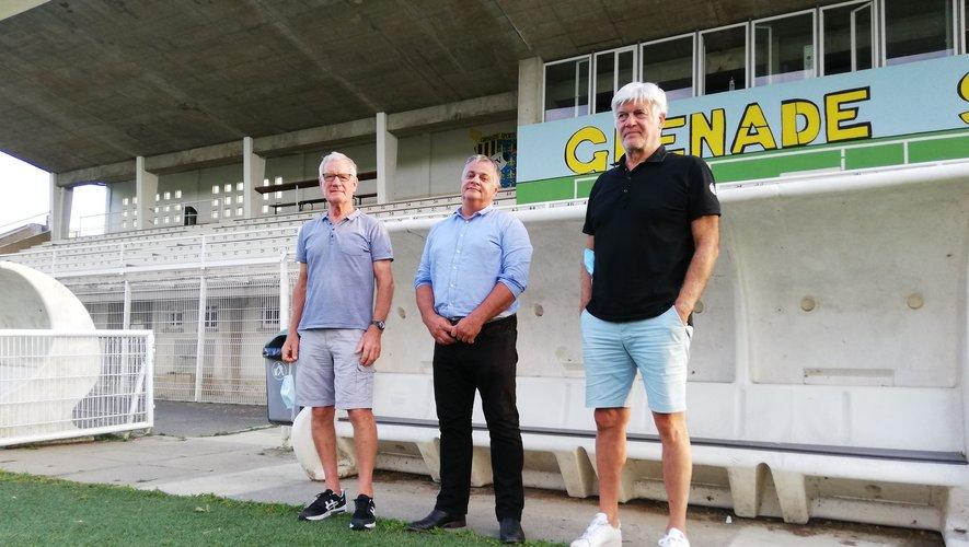 Les trois nouveaux présidents du GS : Michel Delpech, Joël Cassagneet Michel Nuevo. Photo CC