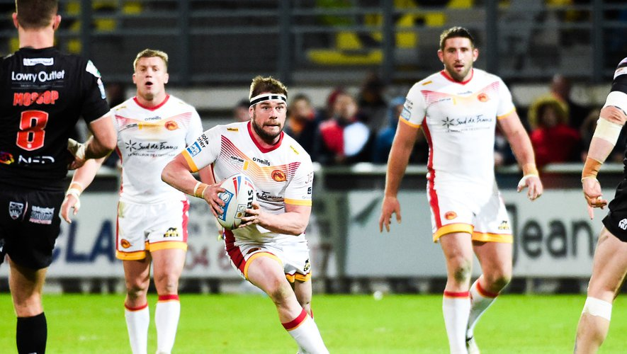 Remi CASTY of Dragons  during the Super League match between Dragons Catalans and Salford at Stade Gilbert Brutus on March 7, 2020 in Perpignan, France. (Photo by Alexandre Dimou/Icon Sport) - Remi CASTY - Stade Gilbert Brutus - Perpignan (France)