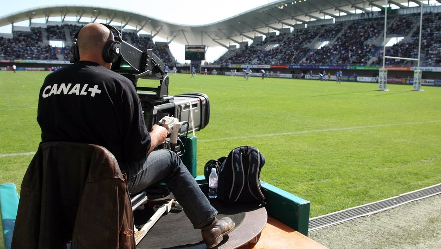 Illustration camera / Canal plus / Television - 04.04.2009 - Montpellier / Castres - 22eme journee de Top 14 - Stade Yves du Manoir - Montpellier - Photo : Nicolas Guyonnet / Icon Sport