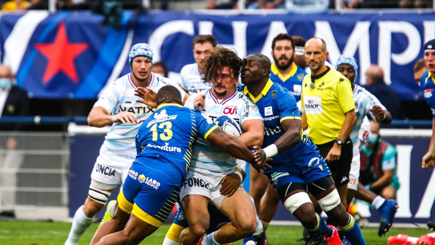 Camille CHAT of Racing92 during the Quarter-Final Champions Cup match between Clermont and Racing92 at Stade Marcel Michelin on September 19, 2020 in Clermont-Ferrand, France. (Photo by Romain Biard/Icon Sport) - Stade Marcel Michelin - Clermont Ferrand (France)