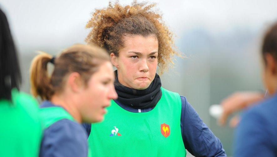 La Rennaise Caroline Drouin était à Marcoussis cette semaine, en compagnie de quarante autres filles afin de préparer les futures échéances internationales.