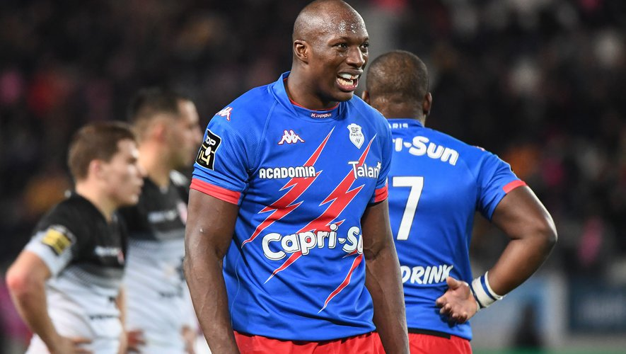 Sekou Macalou avec le Stade français contre Toulouse